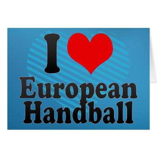 J'aime le handball européen cartes de vœux