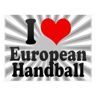 J'aime le handball européen carte postale