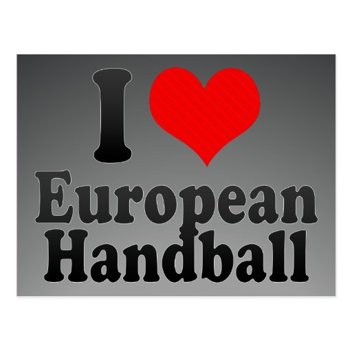 J'aime le handball européen cartes postales