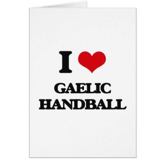 J'aime le handball gaélique cartes de vœux
