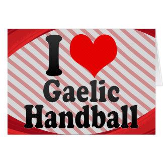J'aime le handball gaélique cartes