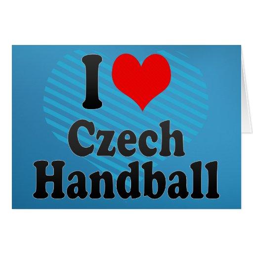 J'aime le handball tchèque cartes de vœux