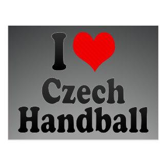 J'aime le handball tchèque carte postale