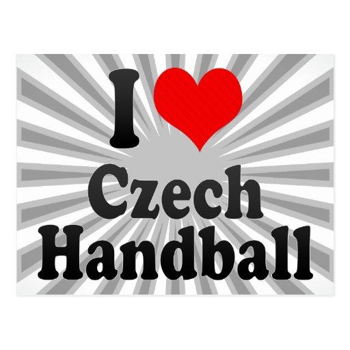 J'aime le handball tchèque cartes postales