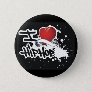 J'aime le hip hop - bouton pin's