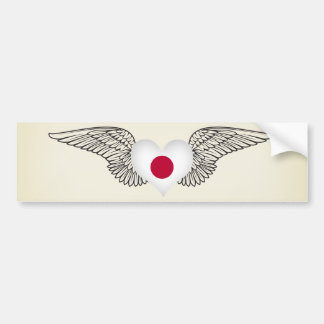 J'aime le Japon - ailes Autocollants Pour Voiture