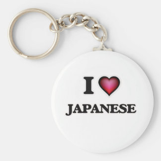 J'aime le japonais porte-clé rond