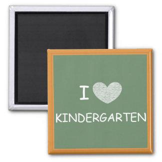 J'aime le jardin d'enfants magnet carré