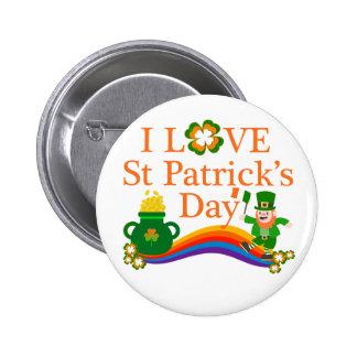 J'aime le jour de St Patrick Badges