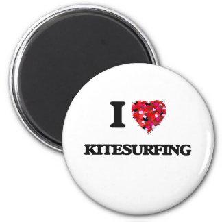 J'aime le kitesurf magnet rond 8 cm