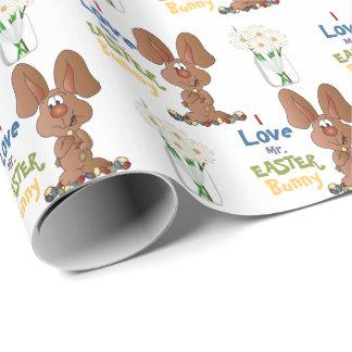 J'aime le lapin de M. Pâques Papier Cadeau Noël