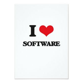 J'aime le logiciel carton d'invitation  12,7 cm x 17,78 cm