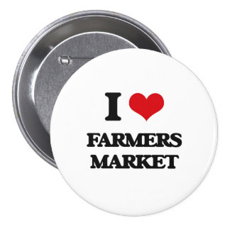 J'aime le marché d'agriculteurs pin's