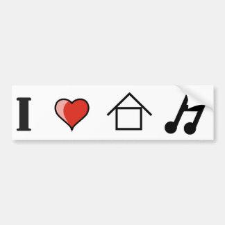 J'aime le matraquage de club de musique de Chambre Autocollant De Voiture