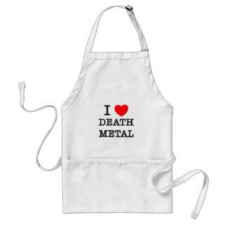 J'aime le métal de la mort tablier