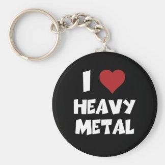 J'aime le métal lourd porte-clé rond