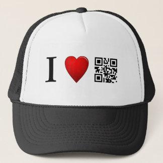 J'aime le modèle de casquette de code de QR