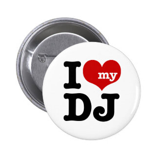J'aime le mon DJ Pin's Avec Agrafe