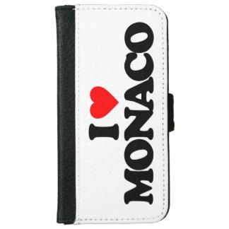 J'AIME LE MONACO COQUE AVEC PORTEFEUILLE POUR iPhone 6