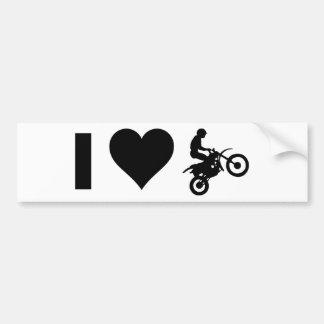 J'aime le motocross autocollant de voiture