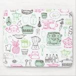 J'aime le mousepad de cuisine de cuisine de nourri tapis de souris