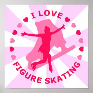 J'aime le patinage artistique posters