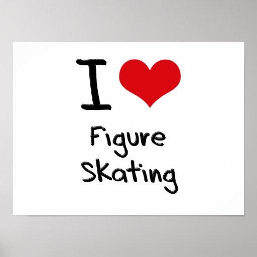 J'aime le patinage artistique affiches