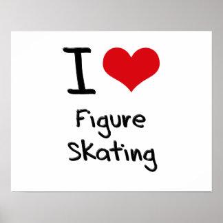J'aime le patinage artistique affiche