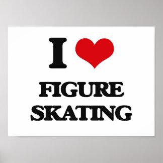 J'aime le patinage artistique poster