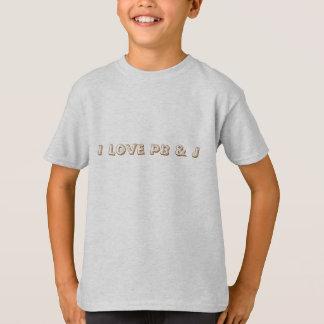 J'aime le PB et le T-shirt d'enfants de citation
