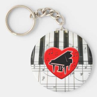 J'aime le piano porte-clés
