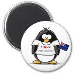 J'aime le pingouin de la Nouvelle Zélande Magnets Pour Réfrigérateur