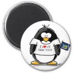 J'aime le pingouin de New York Aimant