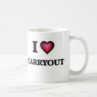 J'aime le plat à emporter mug