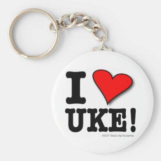 J'AIME le porte - clé de concepteur d'UKE Porte-clé Rond