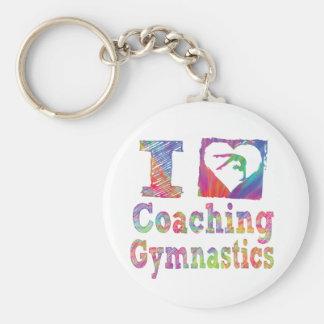 J'aime le porte - clé de gymnastique de Coahing Porte-clés