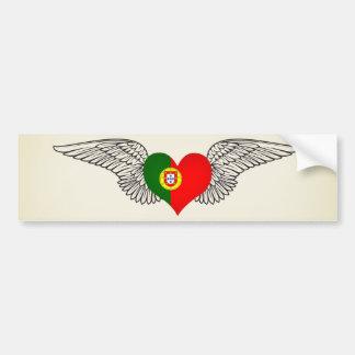 J'aime le Portugal - ailes Autocollant Pour Voiture
