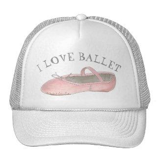 J'aime le professeur de danse de pantoufle de rose casquette de camionneur