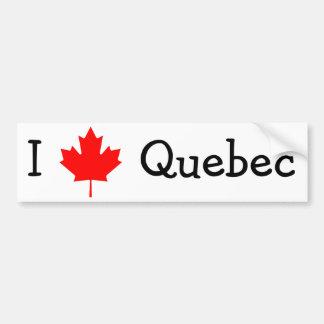 J'aime le Québec Autocollant Pour Voiture