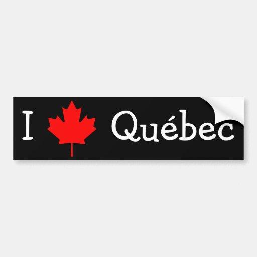 J'aime le Québec Adhésif Pour Voiture