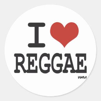 J'aime le reggae sticker rond