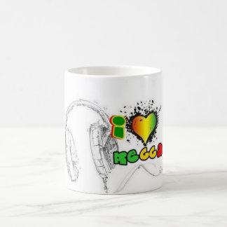 j'aime le reggae mug blanc
