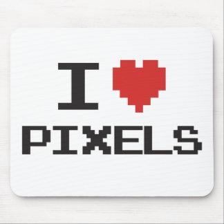 J'aime le rétro gamer 8bit de coeur pixelated par  tapis de souris