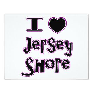 J'aime le rivage de jersey carton d'invitation 10,79 cm x 13,97 cm