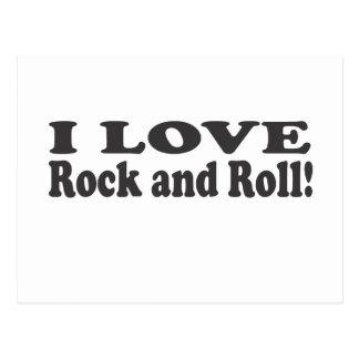 J'aime le rock ! carte postale