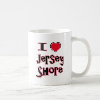 J'aime le rouge de rivage de jersey mug