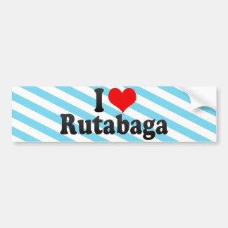 J'aime le rutabaga autocollant de voiture