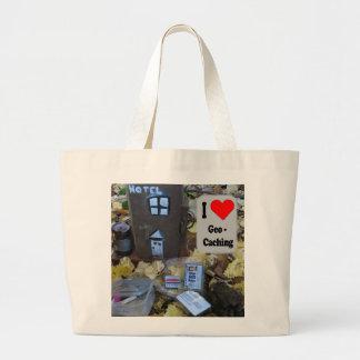 J'aime le sac de Geocaching : Peau de courrier de