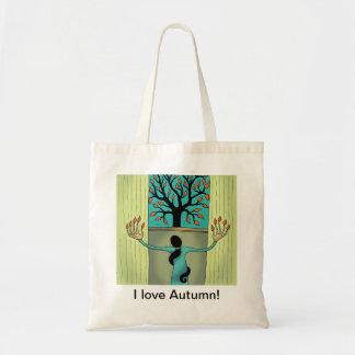 J'aime le sac fourre-tout à automne