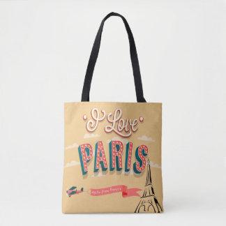 J'aime le sac fourre-tout vintage à style de Paris
